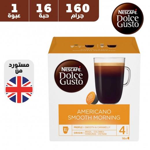 نسكافيه دولتشي جوستو – قهوة أمريكانو سوفت مورنينج متوسطة 160 جم (عبوة 16 كبسولة)