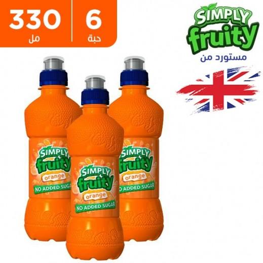 سيمبلي فروتي عصير برتقال خالي من السكر 6 x 330 مل