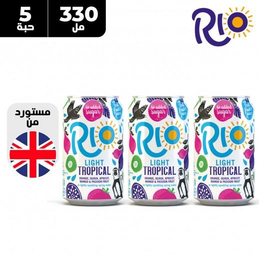 ريو لايت تروبيكال 5 × 330 مل
