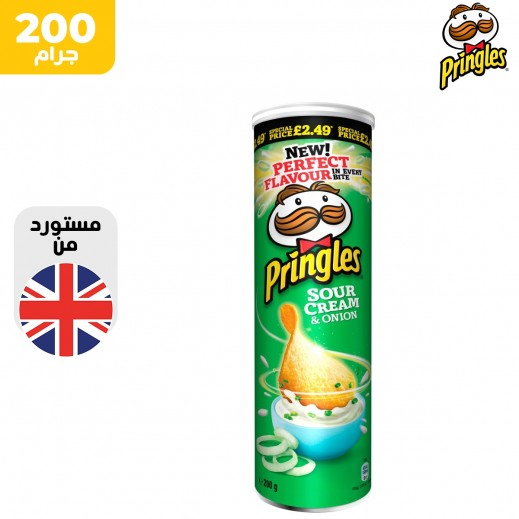 برنجلز بطاطس كريمة حمضية وبصل 200 جم
