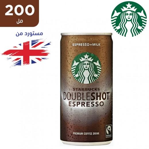 ستاربكس دابل شوت اسبريسو مشروب قهوة مثلجة بالحليب 200 مل