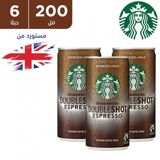 ستاربكس دابل شوت اسبريسو مشروب قهوة مثلجة بالحليب 200 x 6 مل