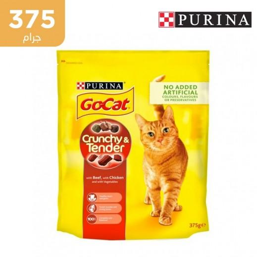 جو كات - طعام القطط المقرمش باللحم البقري والدجاج والخضروات 375 جم