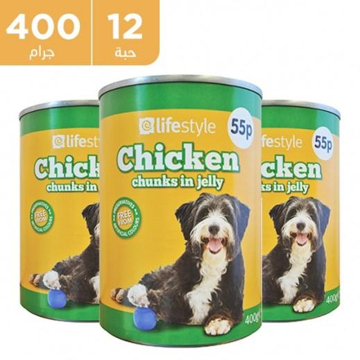 لايف ستايل – طعام الكلاب البالغة بالدجاج 12 × 400 جم
