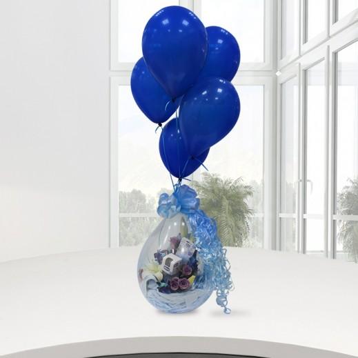 بالون المولود الجديد (ولد) - يتم التوصيل بواسطة ورود A&K