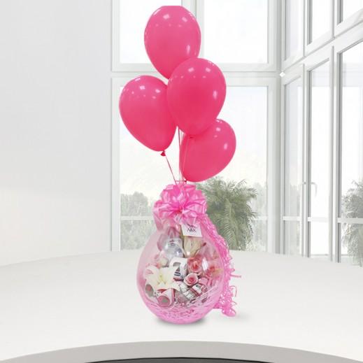 بالون المولود الجديد (بنت) - يتم التوصيل بواسطة ورود A&K