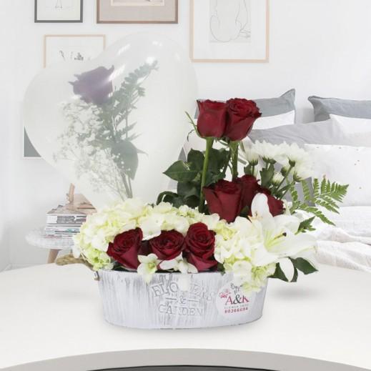 باقة من الزهور الجورية المنعشة - يتم التوصيل بواسطة ورود A&K