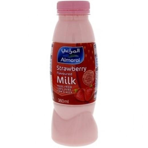 المراعي - الحليب الطازج المنكّه الفراولة 360 مل