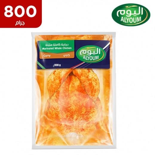 اليوم – دجاجة كاملة طازجة متبلة بنكهة الكاري 800 جم