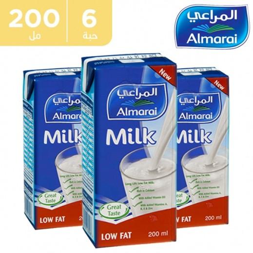 المراعي – حليب طازج قليل الدسم بفيتامينات مضافة 200 مل (5 +1 مجاناً)