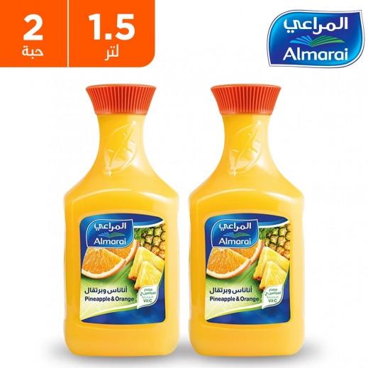 المراعي - عصير أناناس وبرتقال 2 × 1.5 لتر