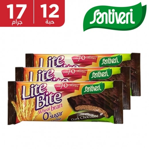 سانتيفري - بسكويت بالقمح الكامل مغطى بالشوكولاتة 12 × 17 جم
