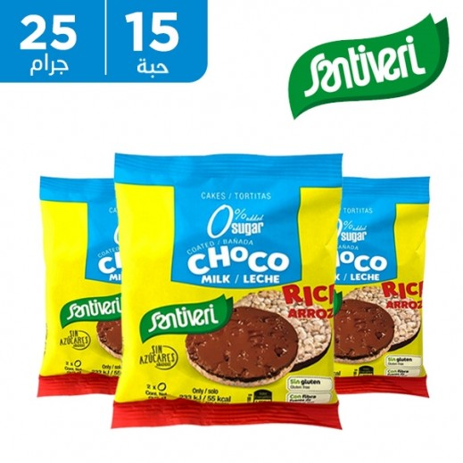 سانتيفري – كعك الأرز مغطى بشوكولاتة الحليب 15 × 25 جم