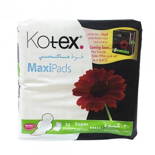 كوتكس - فوط  ماكسي كبيرة بالأجنحة 30 فوطة