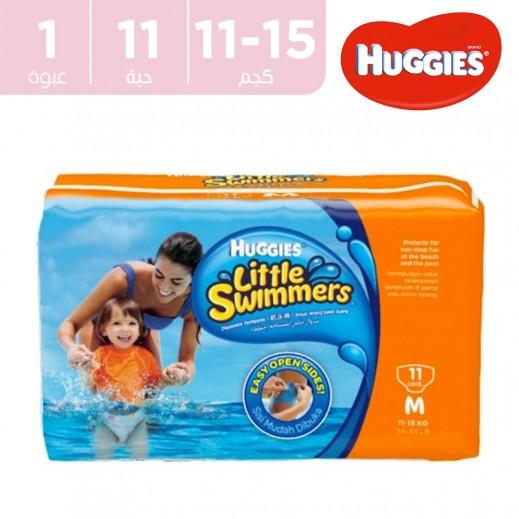 هاجيز – سروال خاص للسباحة (حفاض) حجم وسط 11-15 كجم – 11 حبة