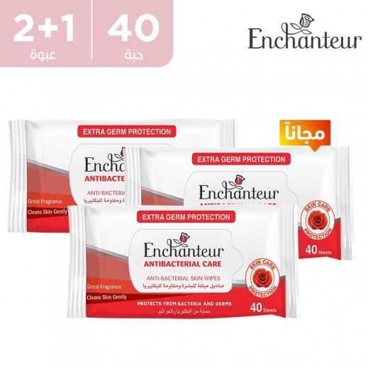 انتشانتيور مناديل مبللة - ضد البكتيريا - 40 حبة (2 + 1 مجاناً)