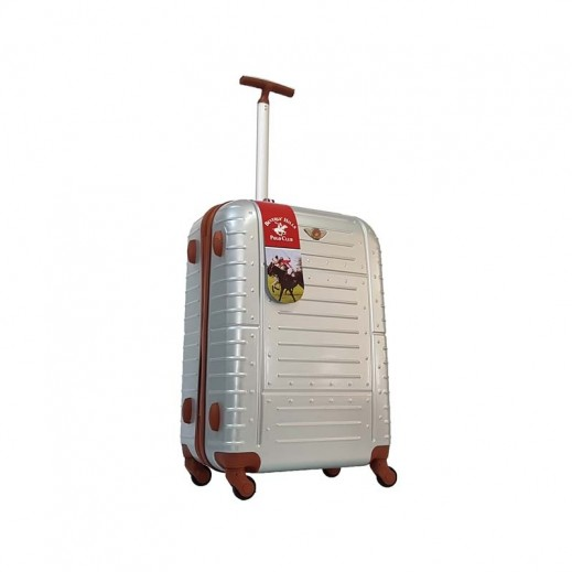 ييفرلي هيلز بولو كلوب - حقيبة سفر أمور رمادى اللون - حجم متوسط - 66 × 39 × 29 سم