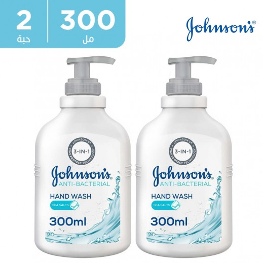 جونسون - سائل تنظيف اليدين مضاد للبكتيريا بملح البحر 2 × 300 مل