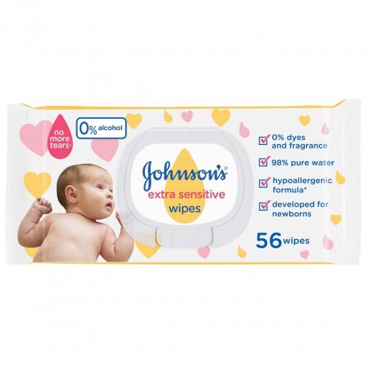 جونسون مناديل مبللة للأطفال 56 حبة