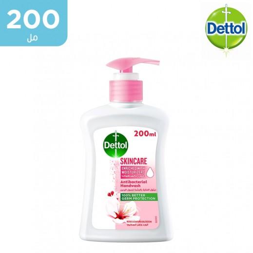 ديتول – صابون سائل غسول اليدين للعناية بالبشرة بالورد والزهر - 200 مل