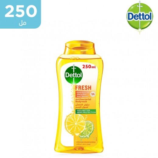 ديتول - غسول الجسم المضاد للبكتيريا برائحة الليمون وزهر البرتقال - 250 مل