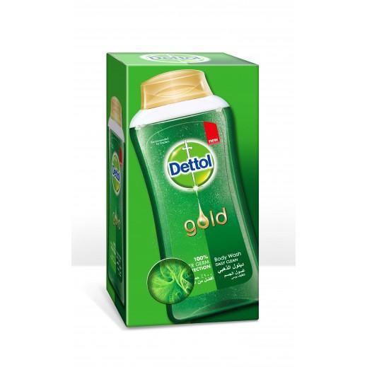 ديتول – غسول الجسم الذهبي للتنظيف اليومي 250 مل مع ليفة اسفنج