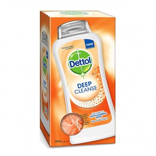 ديتول – غسول الجسم للتنظيف العميق 250 مل مع ليفة اسفنج
