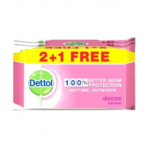 ديتول – مناديل العناية بالبشرة 20 منديل (2+1 مجانا)