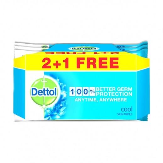 ديتول – مناديل كول المرطبة والمضادة للجراثيم 20 مناديل (2+1 مجانا) عرض خاص