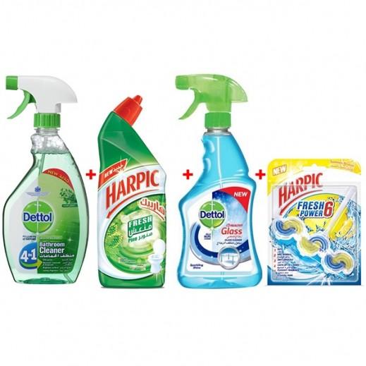 مجموعة تنظيف الحمام (25% خصم)