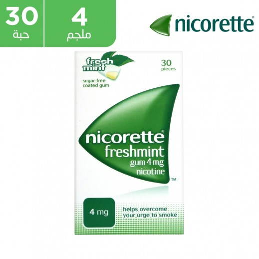 نيكوريت - علكة نعناع 4 مجم نيكوتين - 30 حبة