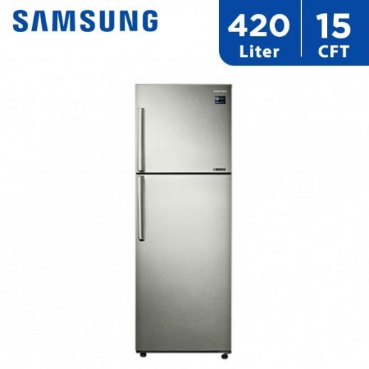 سامسونج - ثلاجة مزدوجة الأبواب 15 قدم 420 لتر   - يتم التوصيل بواسطة AL ANDALUS TRADING COMPANY