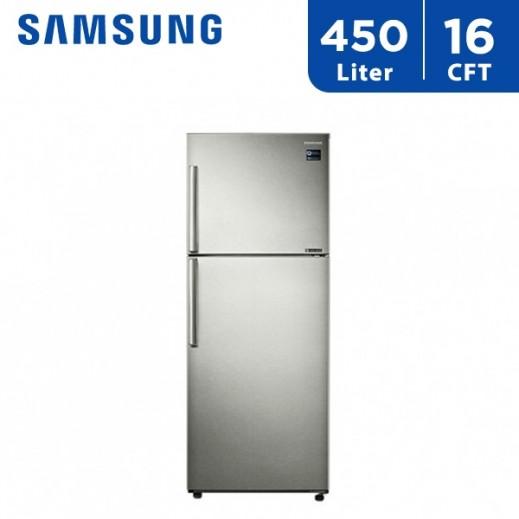 سامسونج - ثلاجة مزدوجة الأبواب 16 قدم 450 لتر  - يتم التوصيل بواسطة AL ANDALUS TRADING COMPANY