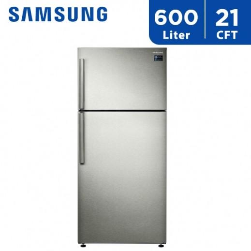 سامسونج - ثلاجة مزدوجة الأبواب 21 قدم 600 لتر   - يتم التوصيل بواسطة AL ANDALUS TRADING COMPANY