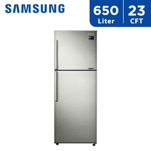 سامسونج – ثلاجة مزدوجة الأبواب 23 قدم 650 لتر - يتم التوصيل بواسطة AL ANDALUS TRADING COMPANY