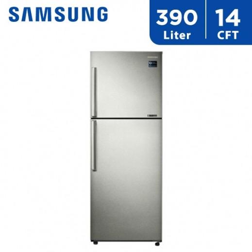 سامسونج - ثلاجة مزدوجة الأبواب 14 قدم 390 لتر - يتم التوصيل بواسطة AL ANDALUS TRADING COMPANY