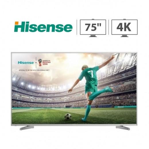 "Hisense 75"" Smart UHD 4K HDR LED TV - يتم التوصيل بواسطة AL ANDALUS"