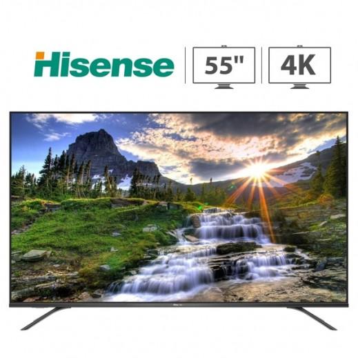 هايسنس – تلفزيون ذكي 55 بوصة ULED 4K – اسود - يتم التوصيل بواسطة AL ANDALUS بعد 3ايام عمل