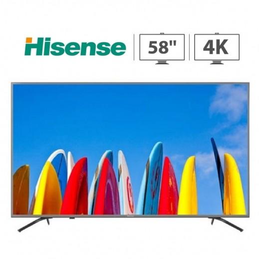 هايسنس – تلفزيون ذكي 58 بوصة UHD 4K  – فضى - يتم التوصيل بواسطة AL ANDALUS