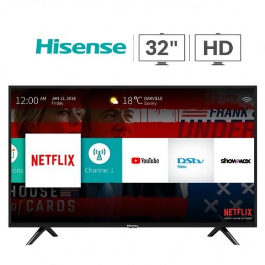 هايسنس – تلفزيون ذكي 32 بوصة HD LED – أسود  - يتم التوصيل بواسطة AL ANDALUS بعد 3ايام عمل