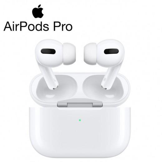 ابل - سماعة Airpods Pro مع علبة الشحن اللاسلكي – ابيض