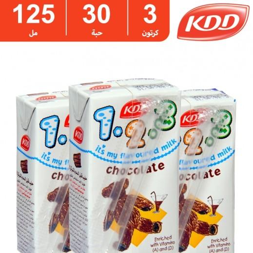 كى دى دى – حليب بنكهة الشوكولاتة 125 مل ( 3 كرتون × 30 حبة )