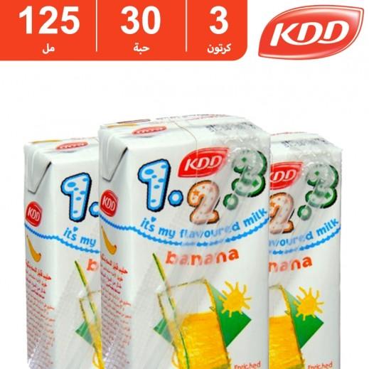 كى دى دى – حليب بنكهة الموز 125 مل ( 3 كرتون × 30 حبة )