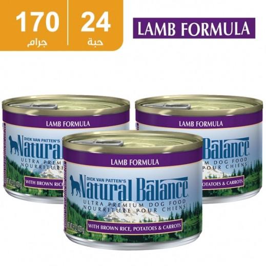 ناتشرال بالانس – وجبة لحم الضأن الطبيعي للكلاب 170 جرام (24 حبة) - أسعارالجملة