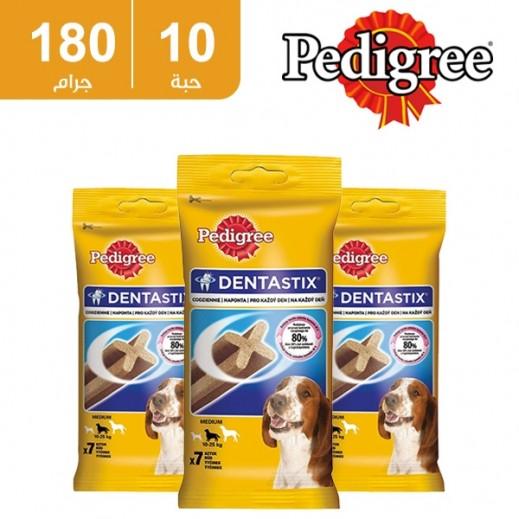 بيدجري  - طعام دينتاستيكس للكلاب متوسطة الأعمار 180جم 7 قطعة (10 عبوة) - أسعار الجملة