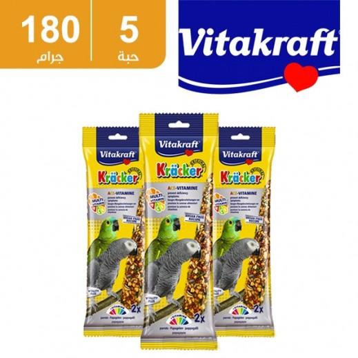 فيتا كرافت – حبوب (كراكر) متعدد الفيتامينات لطائر البغبغاء  180جم (5 حبة)  (أسعار الجملة)