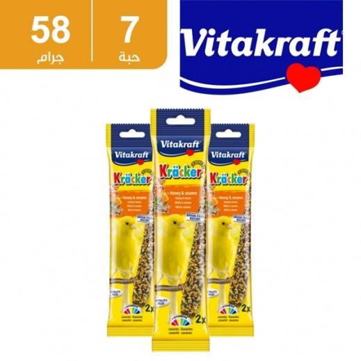 فيتا كرافت – حبوب (كراكر) بالعسل والسمسم لطائر الكناري 58 جم (7 حبة) - أسعار الجملة