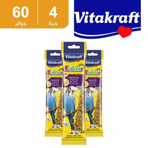 فيتا كرافت – حبوب (كراكر) بالفاكهة لطائر البغبغاء الصغير 4 حبة × 60 جم - أسعار الجملة
