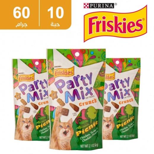فرسكس – طعام القطط بارتي ميكس بكنيك 60 جم (10 حبة) - أسعار الجملة