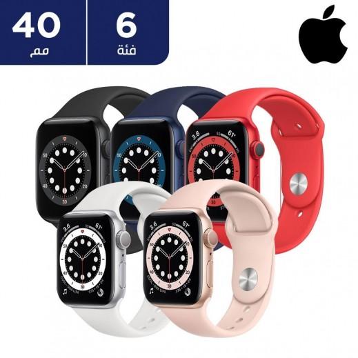 ساعة أبل الفئة 6 قياس 40 مم GPS